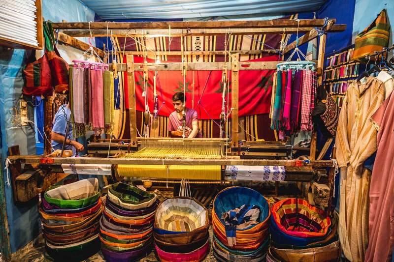 Artesania bordados y telas en Marruecos