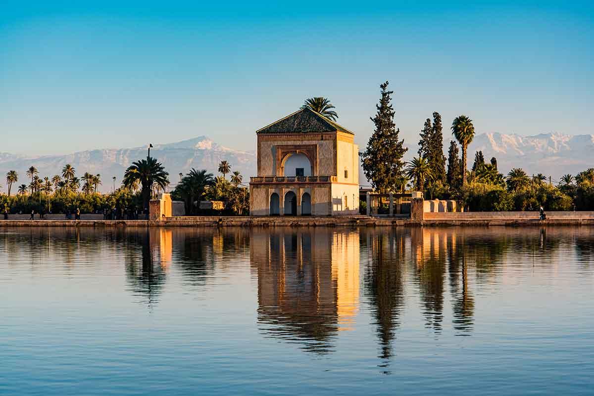 Jardines de la Menara en Marrakech