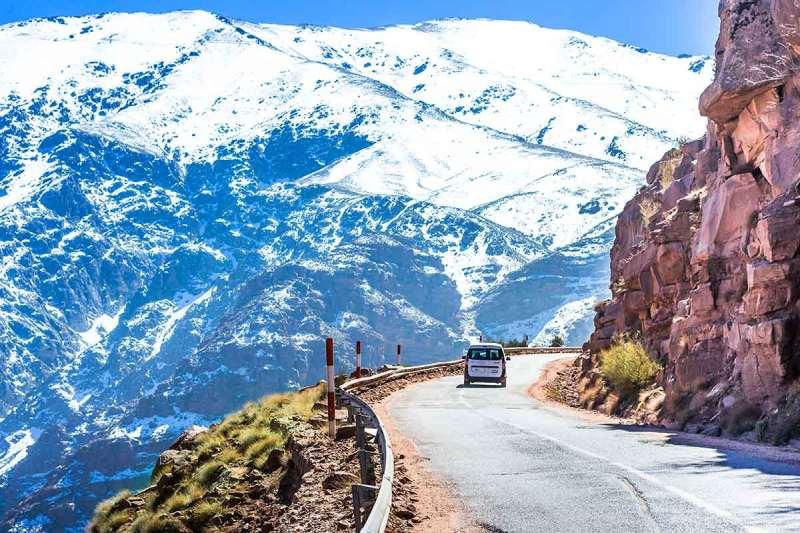 Paisaje alto atlas Marruecos