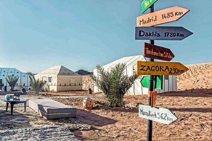 Campamento de jaimas de lujo en Merzouga
