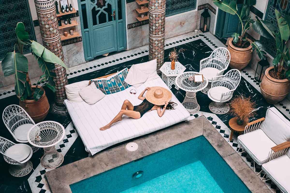 Dormir riad con encanto en Marrakech
