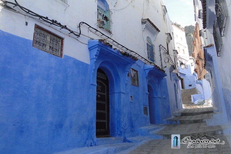 Callejones azules de la medina de Chaouen