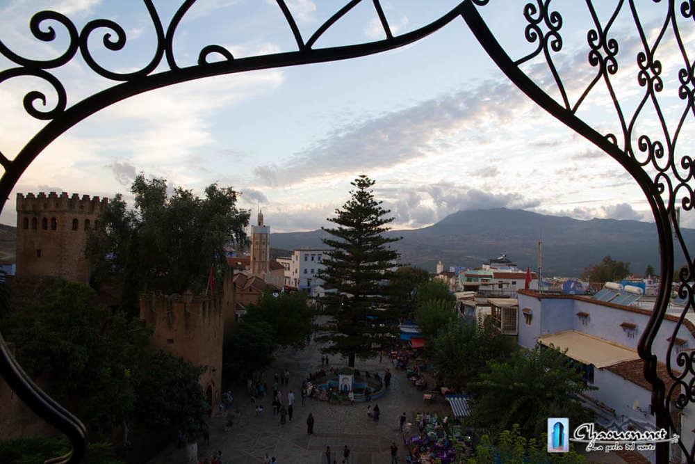 Vista desde la terraza del restaurante Aladin a la plaza Uta el-Hamman