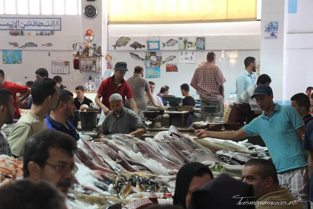 Mercado de pescado en Tánger