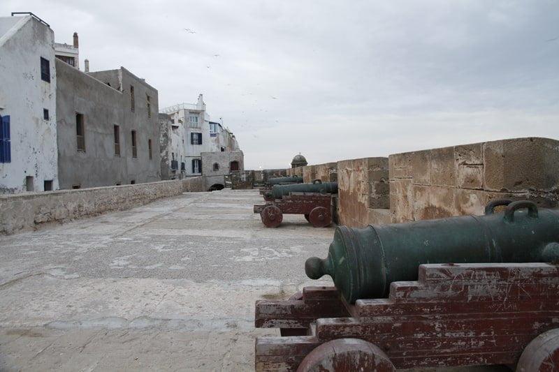 Cañones y murallas de Essaouira