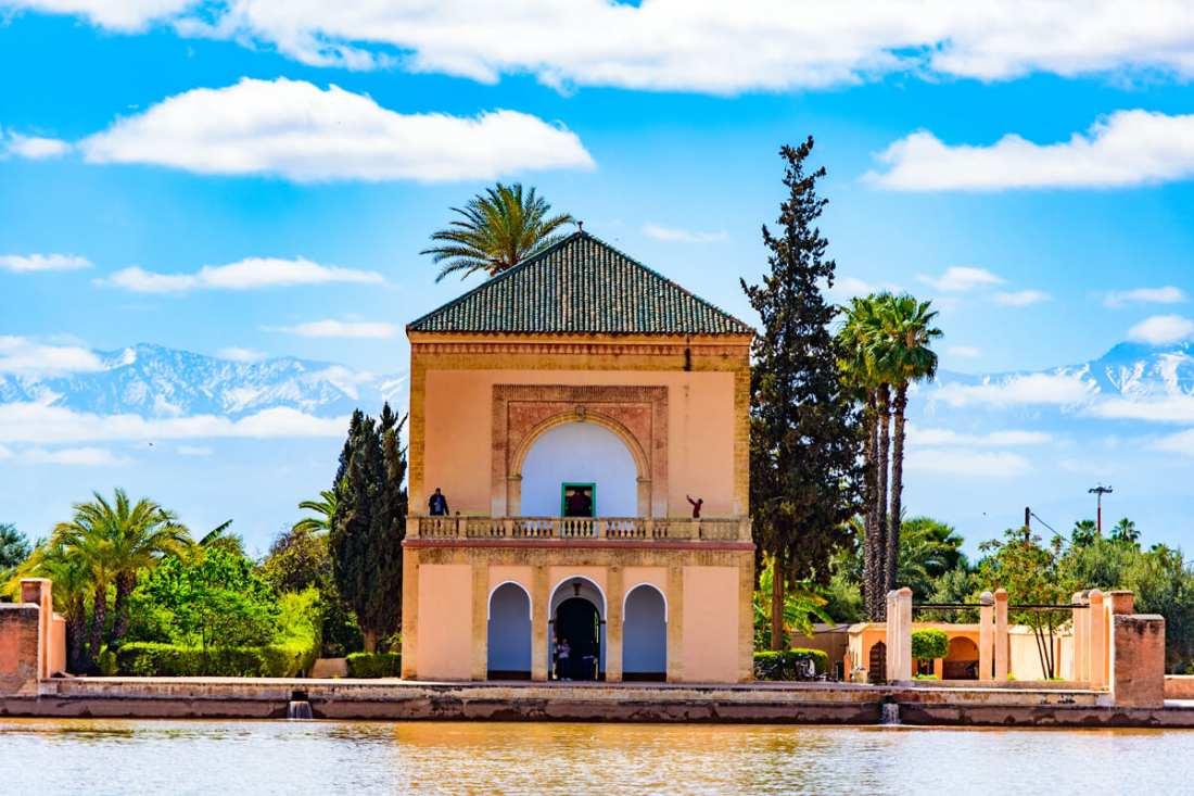 Jardin de la Menara en Marrakech