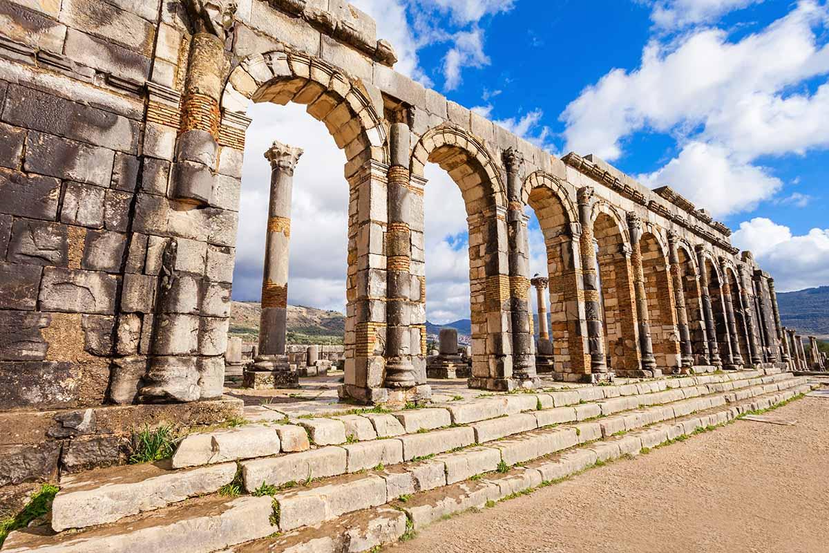 Columnas y Arcos en Volubilis