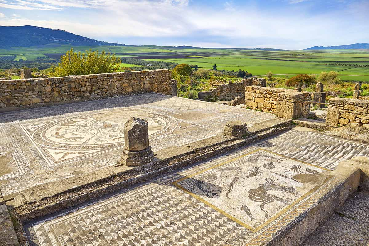 Mosaicos en Volubilis