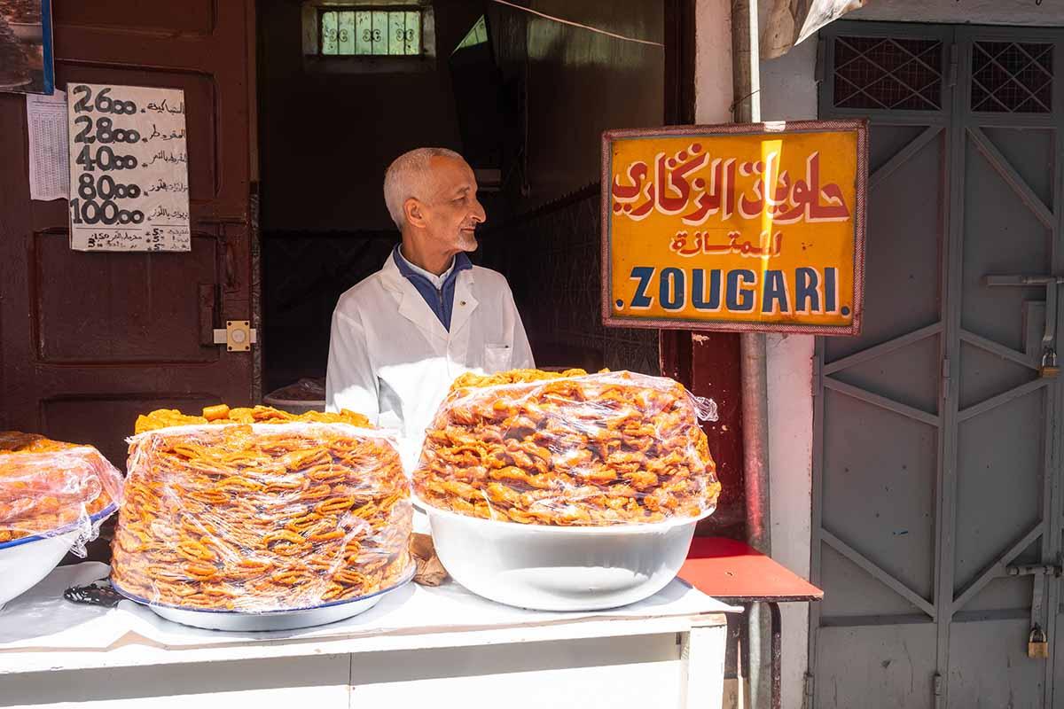 Dulces tipicos de ramadan en Marruecos